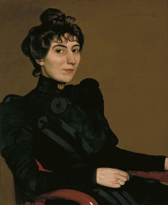 Félix Vallotton: Bildnis der Schauspielerin Marthe Mellot