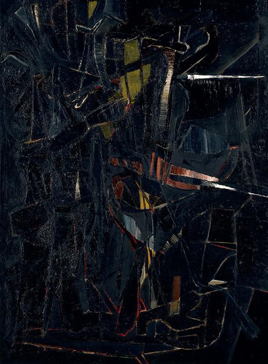 Nicolas de Staël: Composition en noir No. 7
