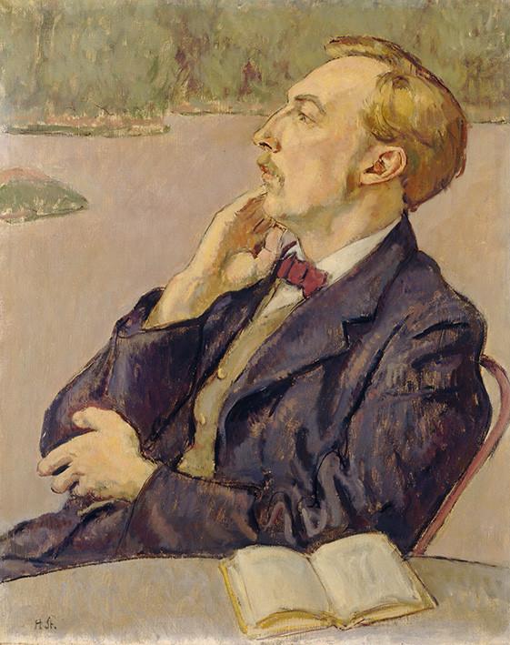 Hans Sturzenegger: Der Dichter, Bildnis E. G. Rüegg