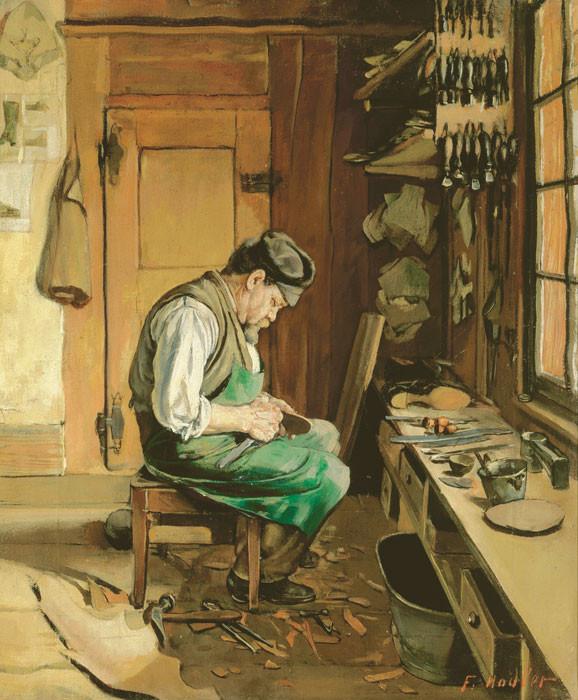 Ferdinand Hodler: Der Schuhmacher