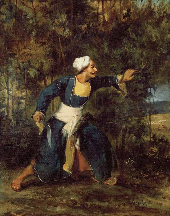 Eugène Delacroix: Inder mit Gurkha-Kris