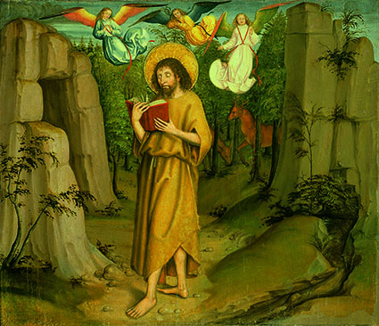 Meister mit der Nelke, Bern: Johannes der Täufer in der Wüste