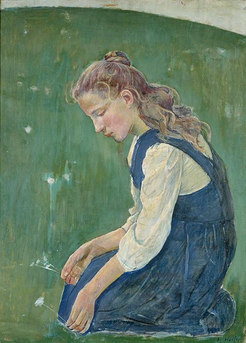 Ferdinand Hodler: Knieendes Mädchen