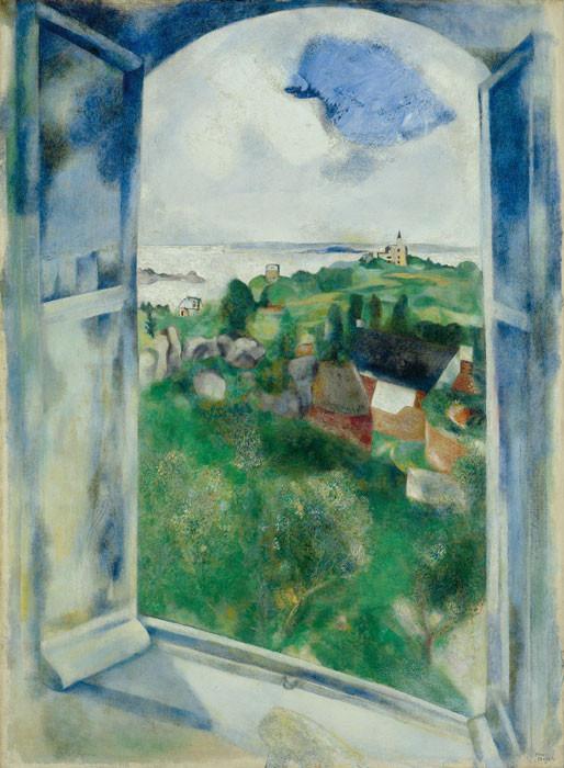 Marc Chagall: La fenêtre sur l'Ile de Bréhat