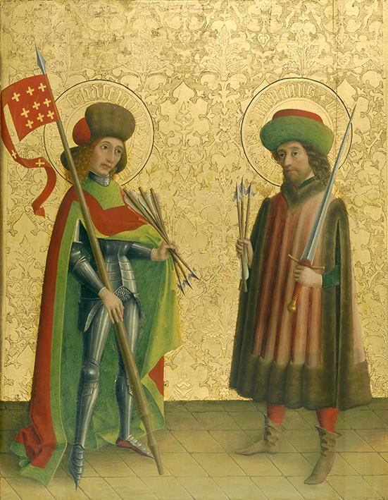 Meister der  Darmstädter Passion: Die Heiligen Sebastian und Fabian