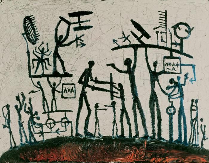 A.R. Penck: Weltbild (1)