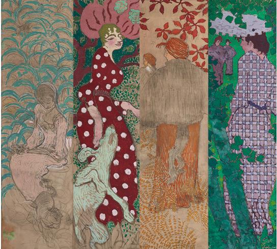 Pierre Bonnard: Panneaux décoratifs - Femmes au jardin