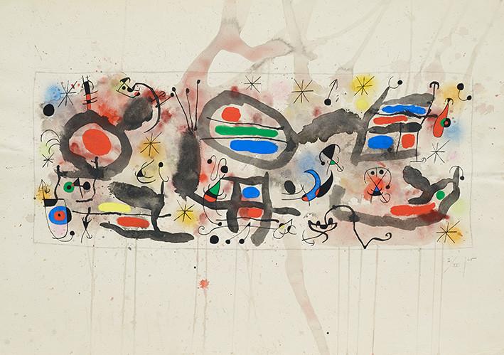 Joan Miró: Skizze zur Keramikwand,