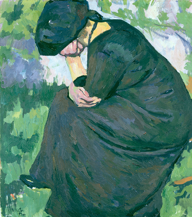 Giovanni Giacometti: Trauernde Frau