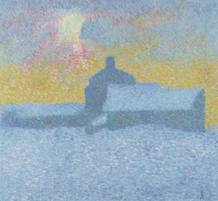 Giovanni Giacometti: Winternebel in Maloja